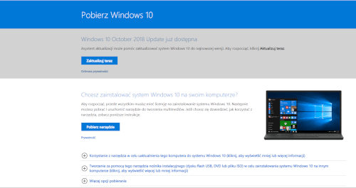 Pobranie Windows 10