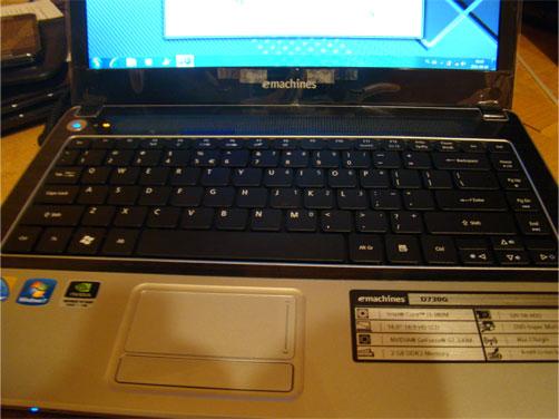 Laptop c Acer emachines D730G core i3